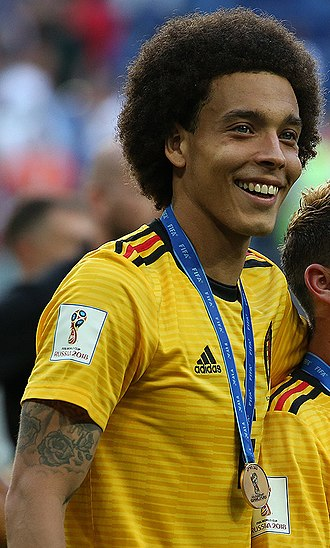 Axel Witsel - Witsel celebrating the bronze medal with Belgium at the 2018 FIFA World Cup