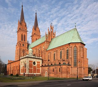 Basilica Cathedral of St. Mary of the Assumption church building in Włocławek, Poland