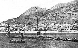 SS Utopia - Wreck of Utopia in Gibraltar Harbour