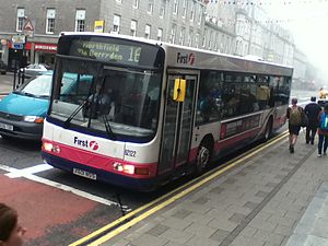 First Aberdeen - Wright Renown bodied Volvo B10BLE on Union Street