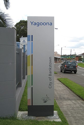 Yagoona, New South Wales - Entering Yagoona from Bankstown along the Hume Highway