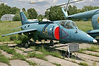 Yakovlev Yak-38 at Ukraine State Aviation Museum.jpg