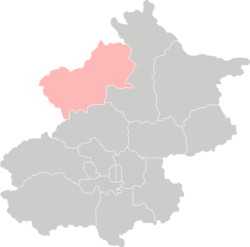 Location of Yanqing in Beijing