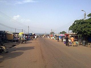 Yeji Town in Bono East Region, Ghana