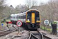 Yeovil Junction - SWR 159105+159021 approaching from Exeter.JPG