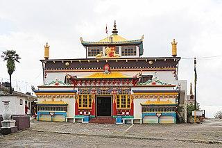 Ghum Monastery building in India