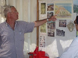 Yizhar Hirschfeld - Prof. Hirschfeld in Old Tiberias 2005 season excavation