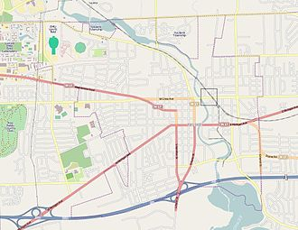 Depot Town - The location of Depot Town within Ypsilanti.