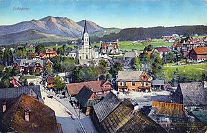 Zakopane - A postcard of Zakopane from 1916