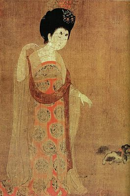 Zhou Fang. Court Ladies Wearing Flowered Headdresses. Detail3.jpg