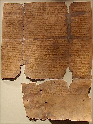 Zobor Abbey - The copy of the founding decree of Zobor convent (from 1113)