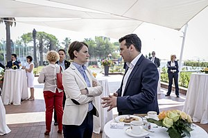 Ana Brnabić - Brnabić with Macedonian Prime Minister Zoran Zaev during a meeting of Balkan leaders held in Durrës