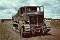 Zsákmányolt szovjet gyártmányú Vorosilovec vontató. Fortepan 73960.jpg