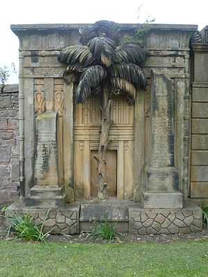 "The Grange, Edinburgh - ""Egyptian"" tombstone sculpture, Grange Cemetery"