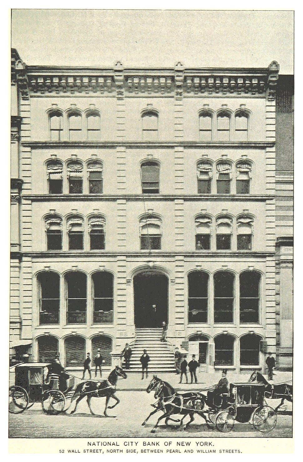 (King1893NYC) pg719 NATIONAL CITY BANK OF NEW YORK. 52 WALL STREET, NORTH SIDE, BETWEEN PEARL AND WILLIAM STREETS