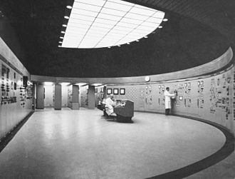Ågesta Nuclear Plant - The control room of the Ågesta Nuclear Plant