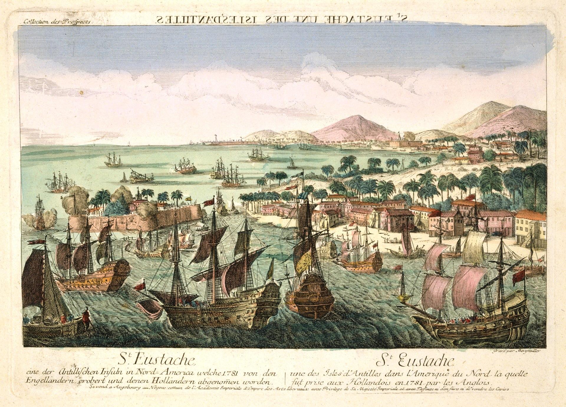 St Eustatius Island Map