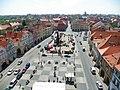 Žatec - pohled z radnice na náměstí. Zatec - view from Town Hall Square. - panoramio.jpg