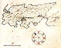 Χάρτης της νήσου Κρες στην Κροατία - Antonio Millo - 1582-1591.jpg