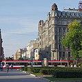 В Питере тоже есть бульварная трамвайная линия, как на Чистых прудах. (15121774859).jpg