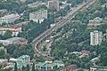 Железнодорожный вокзал Пятигорска и ЭП1П с поездом Кисловодск - Тында. Вид с горы Машук.jpg