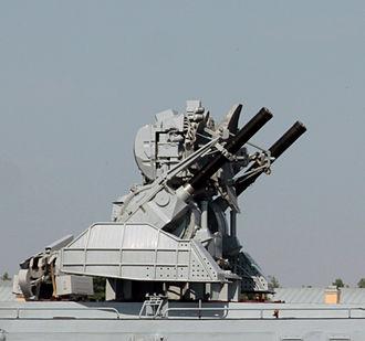 Kashtan CIWS - A Kortik combat module (missiles absent)