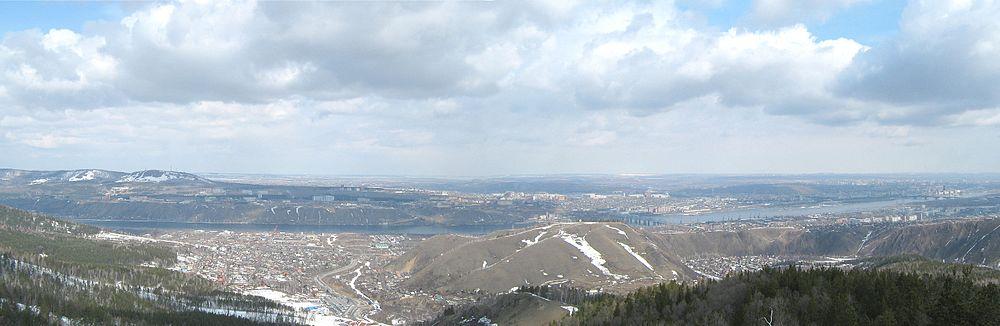 Панорама Красноярска с Такмака
