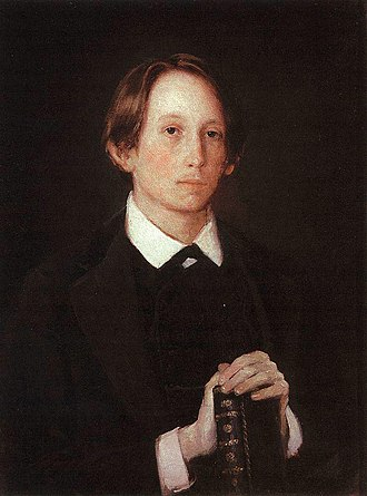 Apollinary Vasnetsov - Apollinary Vasnetsov. Portrait by his brother, Viktor (1878)