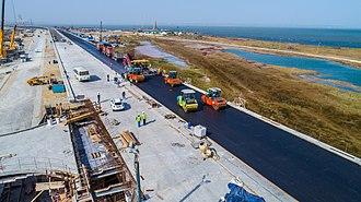 Crimean Bridge - Image: Строительство Крымского моста (Росавтодор) 7