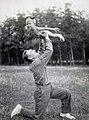 С.С. Бирюзов с дочерью Ольгой на даче.jpg