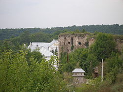 Castle ruins and the monastery