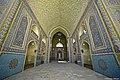 مسجد جامع یزد نمایی از خطوط کوفی سقف ایوان.jpg
