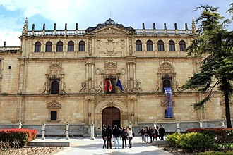 University of Alcalá - The plateresque facade (R. Gil de Hontañón, 1543) of the most recognized building of the university