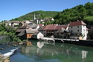 0 Lods - Le village et la Loue (1)