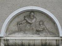 1100 Laxenburger Straße 203-217 Stg. 9 - Natursteinrelief Erzähler von Michael Drobil IMG 7473.jpg