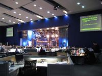 The newsroom at CNBC headquarters, also used to host Power Lunch.