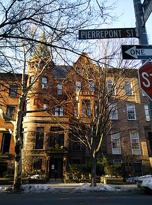 Alfred Smith Barnes - Barnes renovated the Brooklyn Heights townhouse at 114 PIerrepont Street