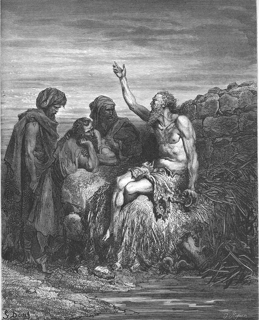 욥과 그의 친구 (귀스타브 도레, Gustave Dore, 1866년)
