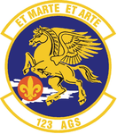 123 Aircraft Generation Sq (later 123 Aircraft Maintenance Sq) emblem.png