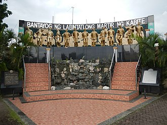 Thirteen Martyrs of Cavite - The Thirteen Martyrs Monument along Governor's Drive in Trece Martires, Cavite erected in 2004.