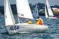 141100 - Sailing Australia 3 person keelboat action 10 - 3b - 2000 Sydney race photo.jpg
