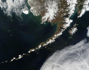 Satellitenbild der Aleuten