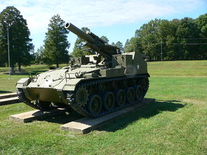 M41 Howitzer Motor Carriage - Image: 155mm Howitzer Motor Carriage M41 1