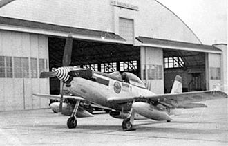 158th Airlift Squadron - 158th Fighter Squadron F-51H Mustang, 1952