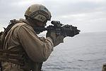 15th MEU Marines fire weapons during flight-deck quals 150227-M-SV584-117.jpg