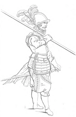 17th-century European pikeman 17th century European pikeman.png