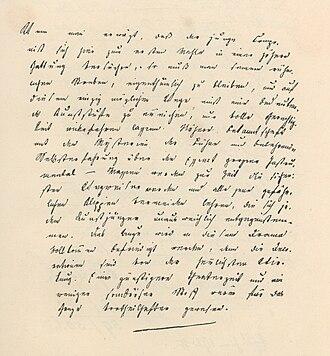 """Johann Mayrhofer - Johann Mayrhofer's handwriting 1820 (review of Schubert's """"Zauberharfe"""")"""