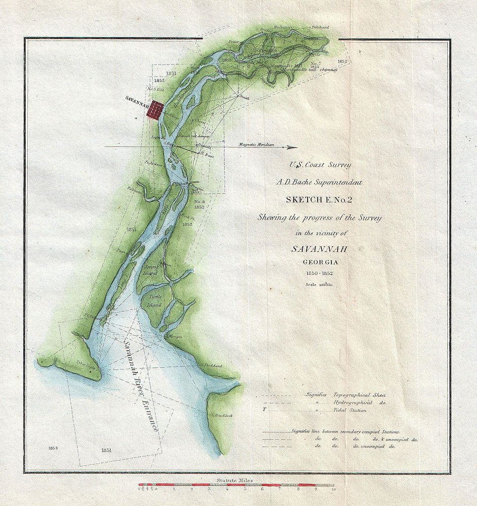 File1853 US Coast Survey Map of Savannah Georgia and the Savannah