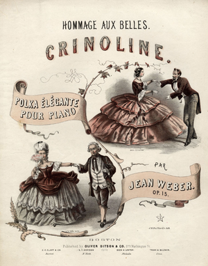 Oliver Ditson - Image: 1854 Crinoline Ditson