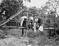 1900 Group at Chouteau Springs on Wooden Log Bridge State Historical Socity of Missouri.jpg